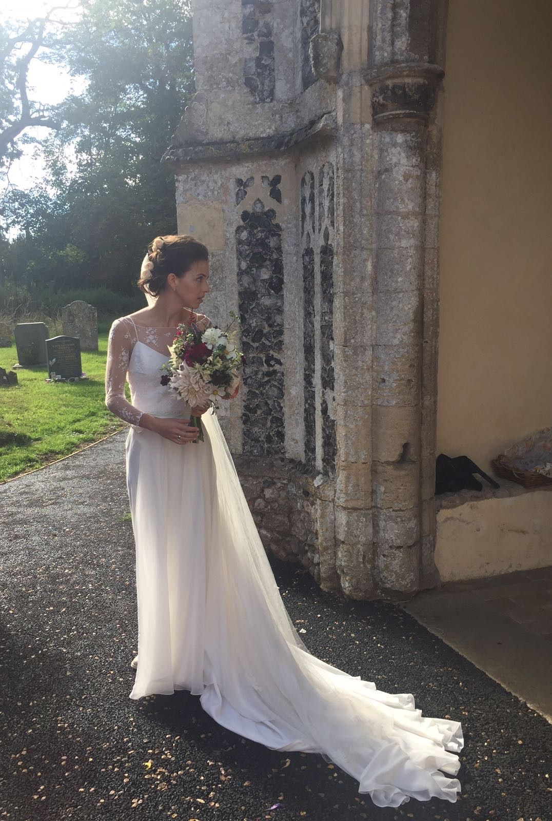 Chessie, make-up and hair by Fenella St John, tying the knot.